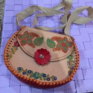 Girls crossbody purse made in Mexico